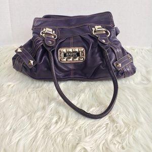Purple Vegan Leather Shoulder Bag